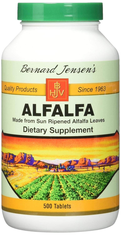 海外直送品 Bernard Jensen Products Alfalfa Leaf Tablets, 500 CT B00014I930