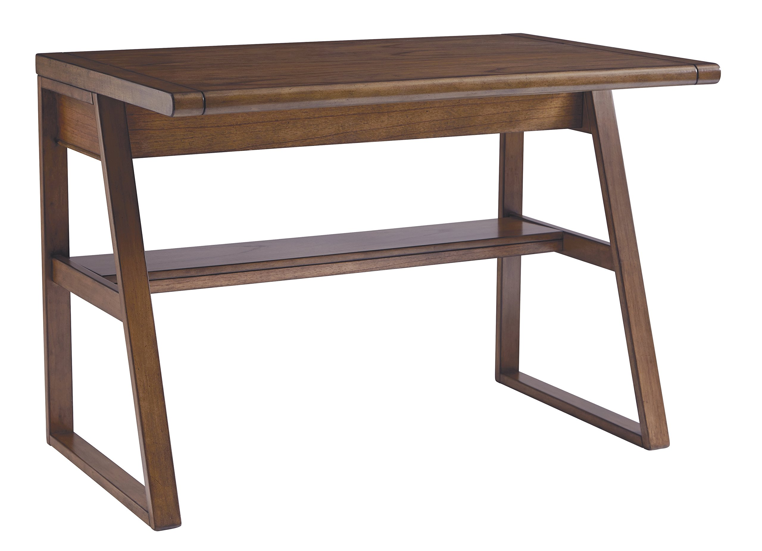 Ashley Furniture Signature Design - Vintage Casual Home Office Desk - Dual Electrical Outlets & Charging Stations - Medium Brown