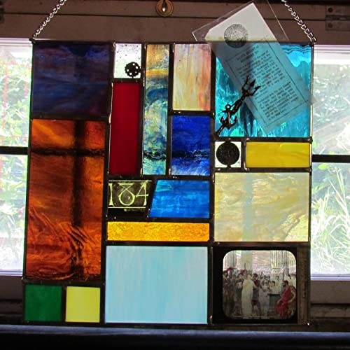 Stained Glass Cabinet Of Curiosities II Featuring Magic Lantern Window Panel