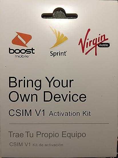 Sprint SIM Activation Kit - Read Description For Compatible Devices
