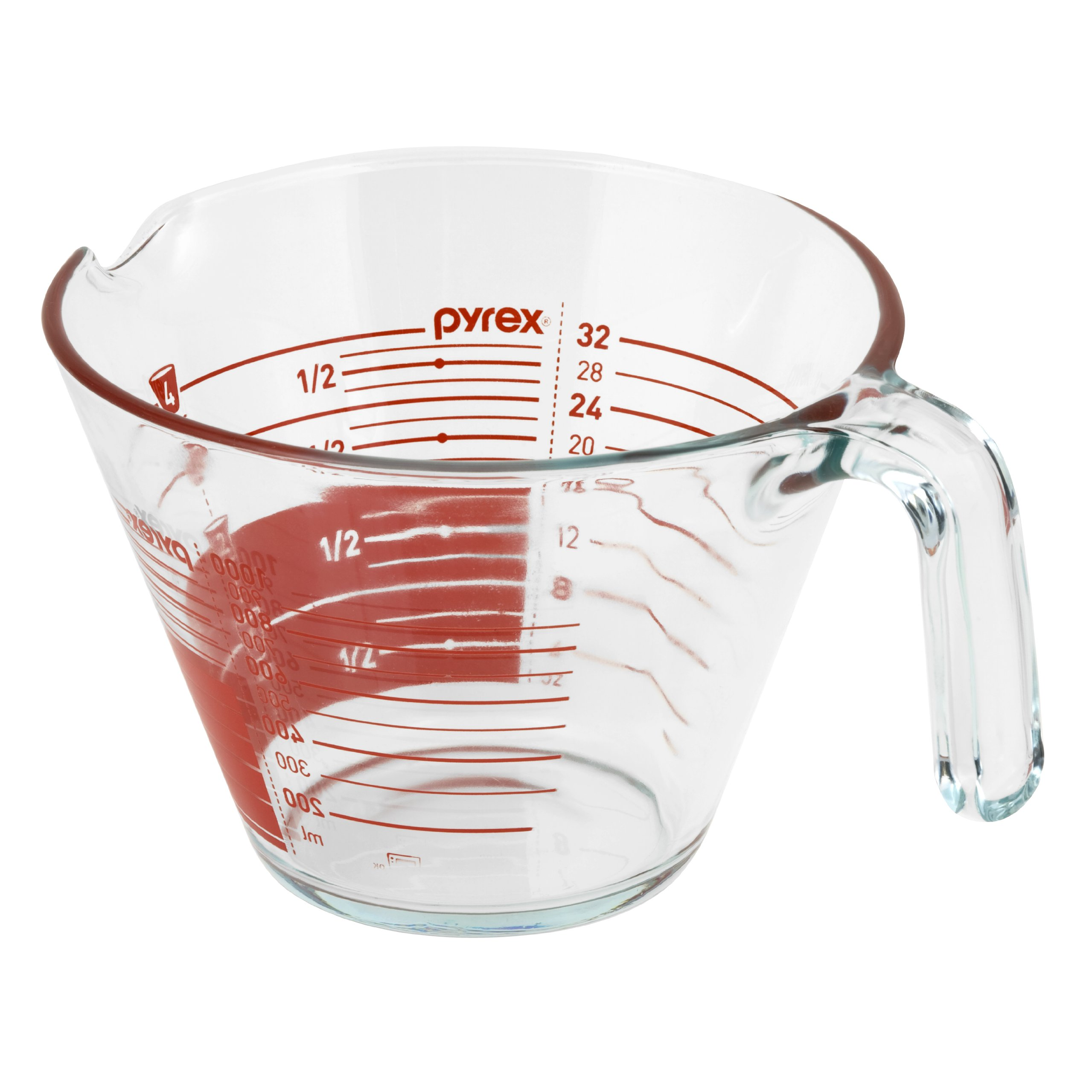 pyrex 4 cup glass measuring cup read from above graphics 691166998395 ebay. Black Bedroom Furniture Sets. Home Design Ideas