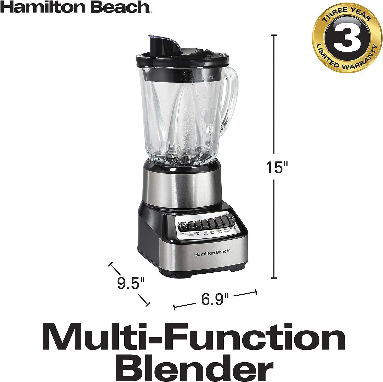 Hamilton Beach 54221 Batidora de vaso 700W Negro, Acero inoxidable ...