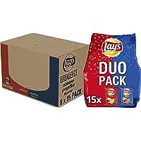 Lay's Duopack Naturel & Paprika Chips, Doos 8 stuks x 412,5 g