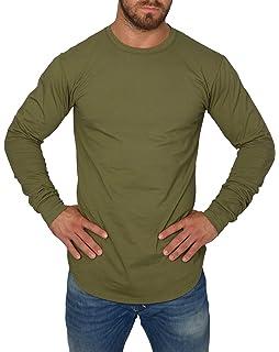 c5384e60723cf2 Blackskies Oversize Longsleeve T-Shirt Herren Langarm Longshirt mit ...