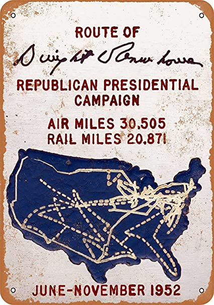 Amazon com: YFULL 12 x 16 Sign - 1952 Air and Rail Route of Dwight