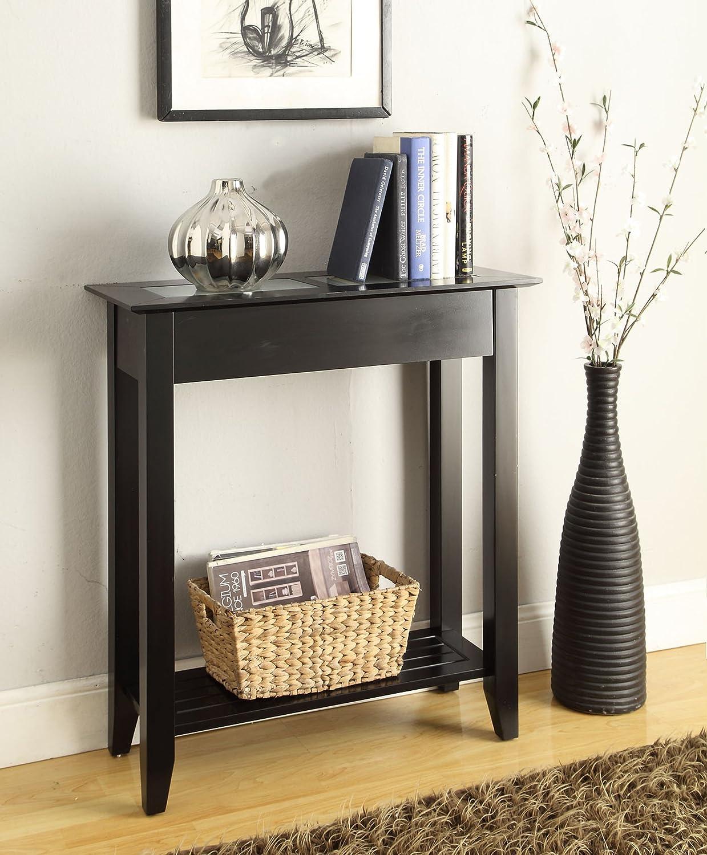 Amazon.com: Convenience Concepts Carmel Hall Table, Black: Kitchen U0026 Dining