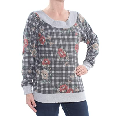 American Rag Juniors' Printed Off-The-Shoulder Sweatshirt: Clothing