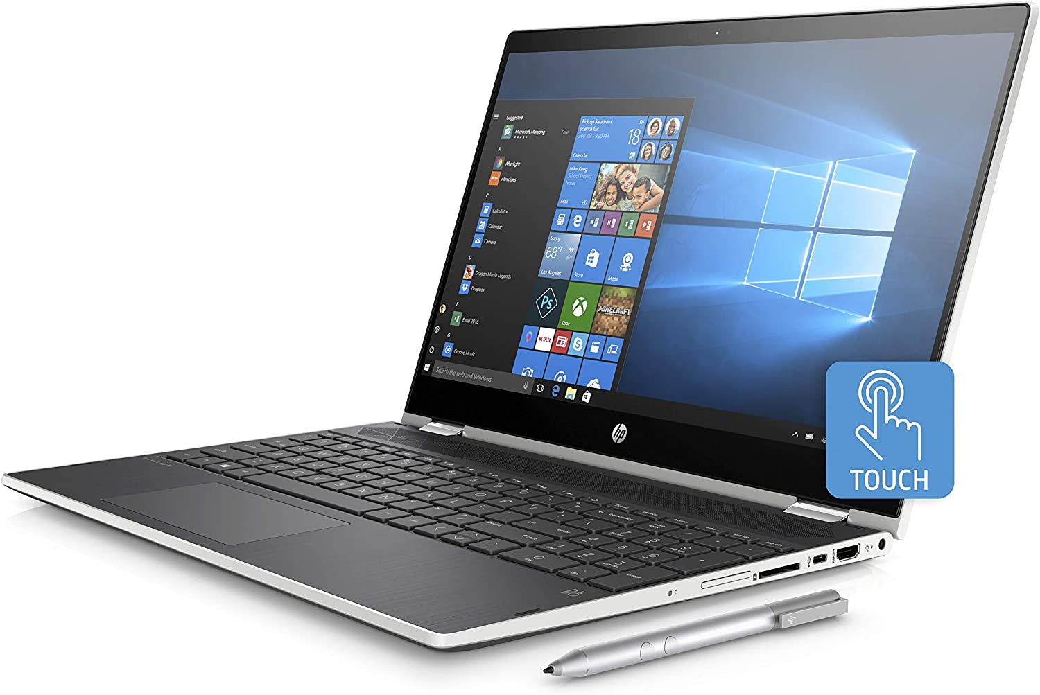 "HP Best Performance 15.6"" FHD Convertible Touschscreen 2-in-1 Laptop Core i3-8130U Up to 3.4GHz 20GB (4GB DDR4+16GB Optane) Memory 1TB HDD HP Digital Pen, Backlit Keyboard Windows 10"