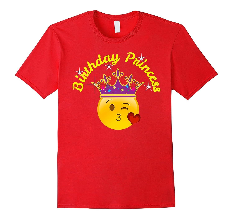 Birthday Shirt For Girls Birthday Princess Emoji Heart Kiss-CL