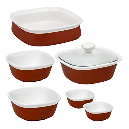 CorningWare Etch 7 Piece set  sc 1 st  Amazon.com : corningware etch dinnerware - pezcame.com