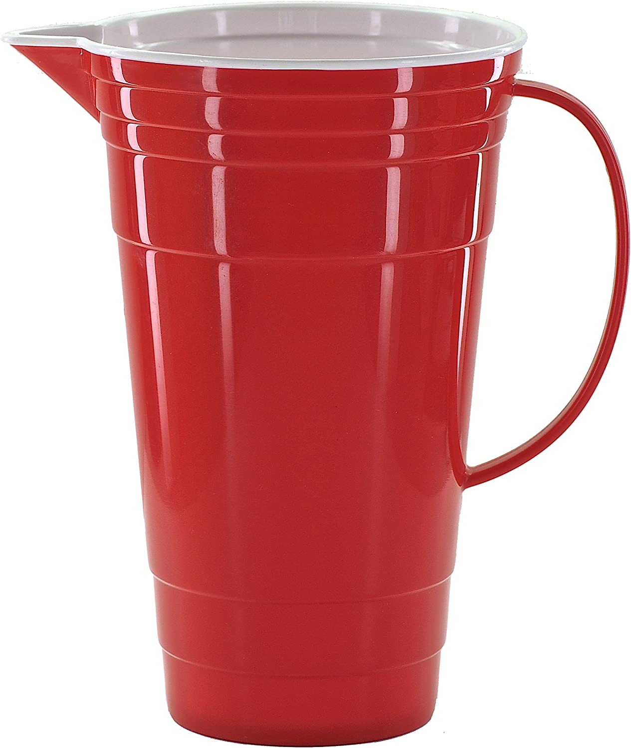 Amazon Com Mr Ice Bucket Double Walled Insulated 64 Oz Party Pitcher Red Kitchen Dining