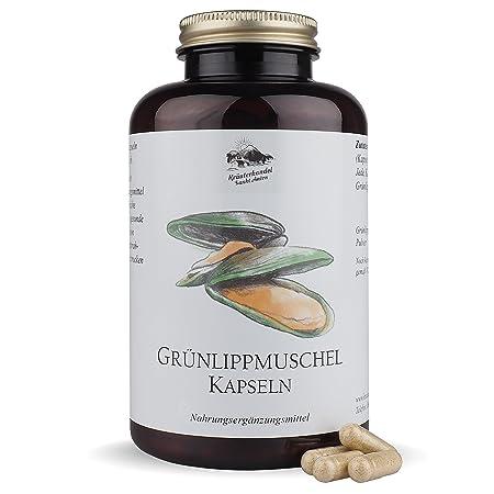 Grünlippmuschel Kapseln • 1500 mg Grünlippmuschelpulver pro Portion • hochdosiert • 300 Kapseln (5-3 Monatsvorrat) • OHNE Mag