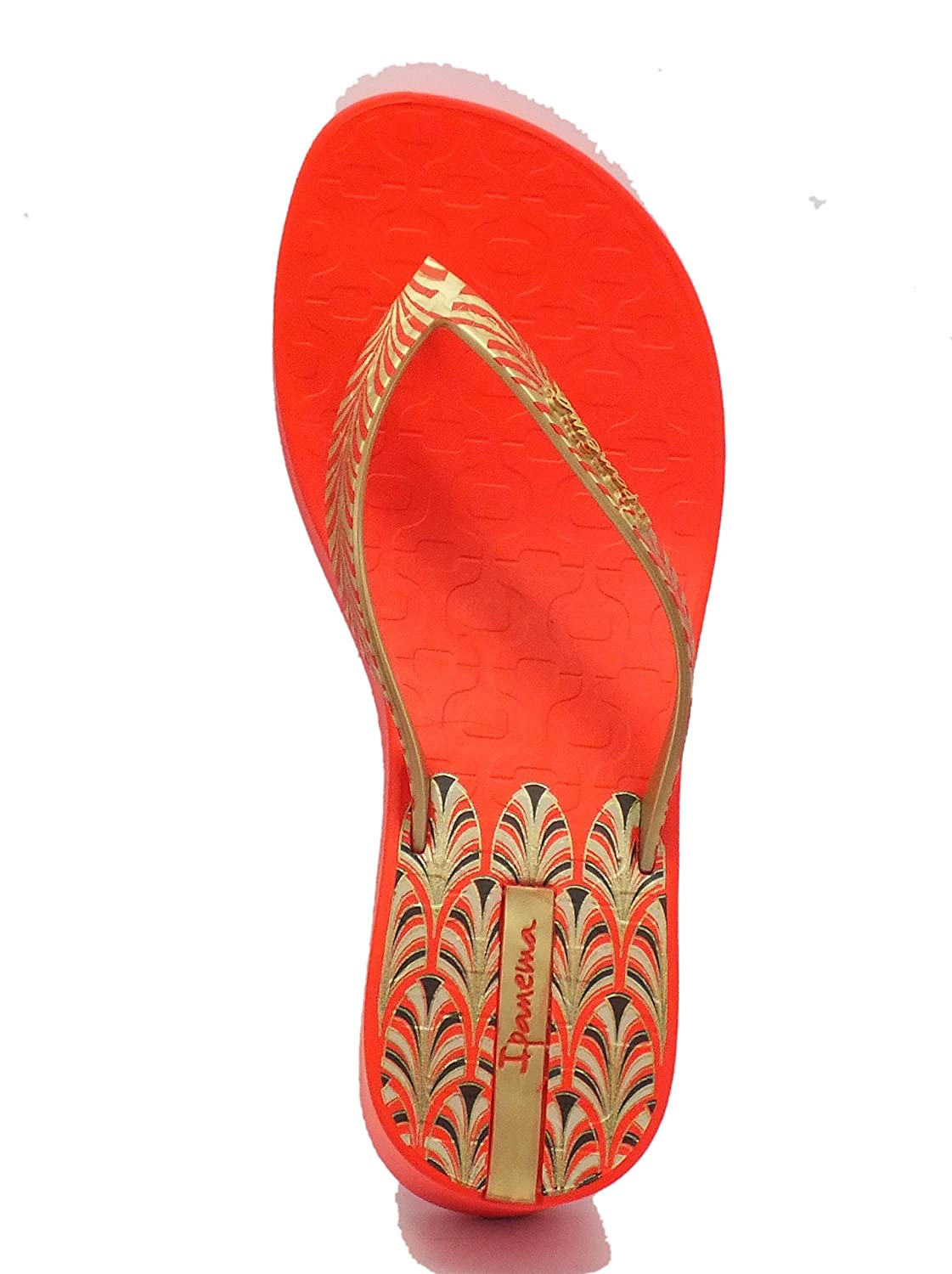 b88c1d6b56bdc5 Ipanema Women s 81466 Art Deco Fem Red Gold Thong Sandals Red Red Red Size   2 UK 3 UK  Amazon.co.uk  Shoes   Bags
