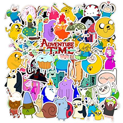 50Pcs Adventure Time with Finn and Jake Stickers Cute Cartoon Sticker for Kids Laptop Skateboard Toy Stickers (Adventure Time): Computers & Accessories