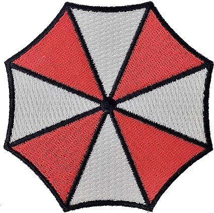 Super6props Resident Evil Umbrella Corporation Logo para planchar (75 mm)