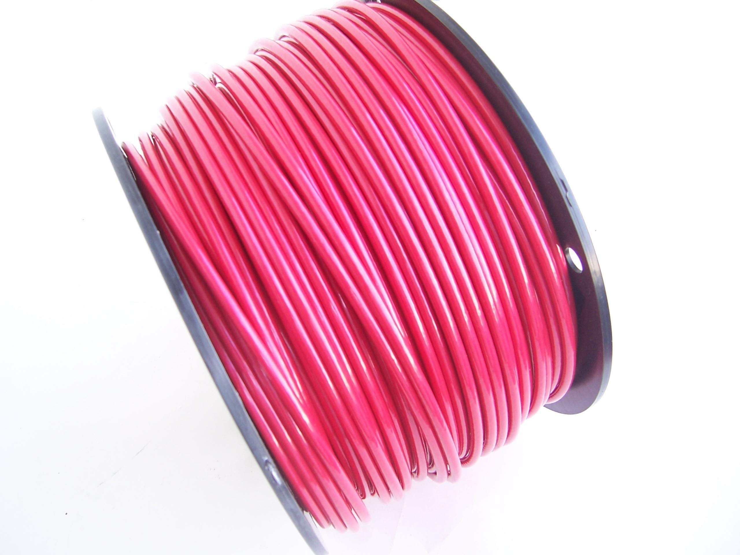 Red Vinyl Coated Wire Rope Cable, 3/16'' - 1/4'', 7x19, Coated in USA: 100 ft, 250 ft and 500 ft Reels (250 Ft Reel)