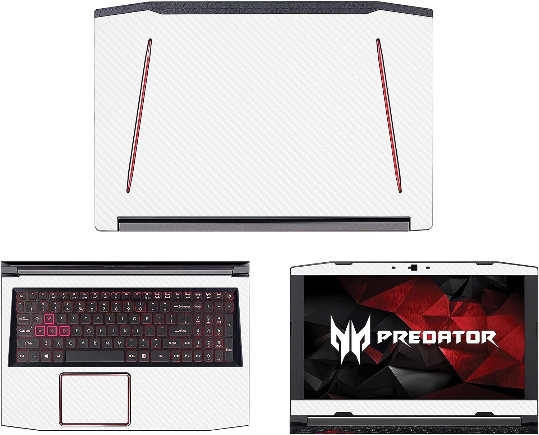 "decalrus - Protective Decal for Acer Predator Helios 300 G3-571 (15.6"" Screen) Laptop White Carbon Fiber Skin case Cover wrap CFPredatorHelios300_G3-571White"