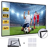 Xcellent Global 130 inch Projector Screen, 16:9 HD Foldable Anti-Crease Anti-Light Movies Screen, Projection Screen for…