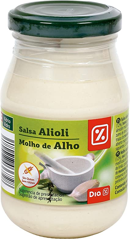 DIA salsa alioli frasco 225 ml: Amazon.es: Alimentación y ...