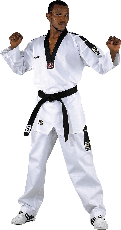 Blanco Blanco Talla:180 Traje de Artes Marciales Kwon Dobok TKD Anzug Grand Victory Talla Mediana