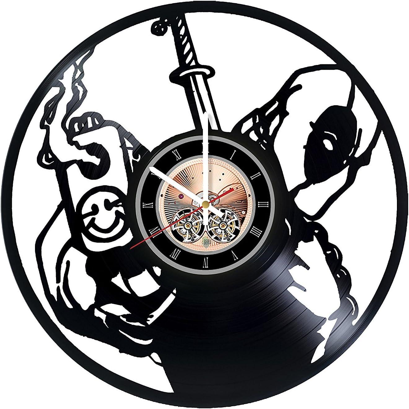 choma Deadpool Comics Vinyl Record Wall Clock - Living Room or Garage Wall Decor - Gift Ideas for Friends, Teens, Men, Boys – Free Movies Unique Art Design