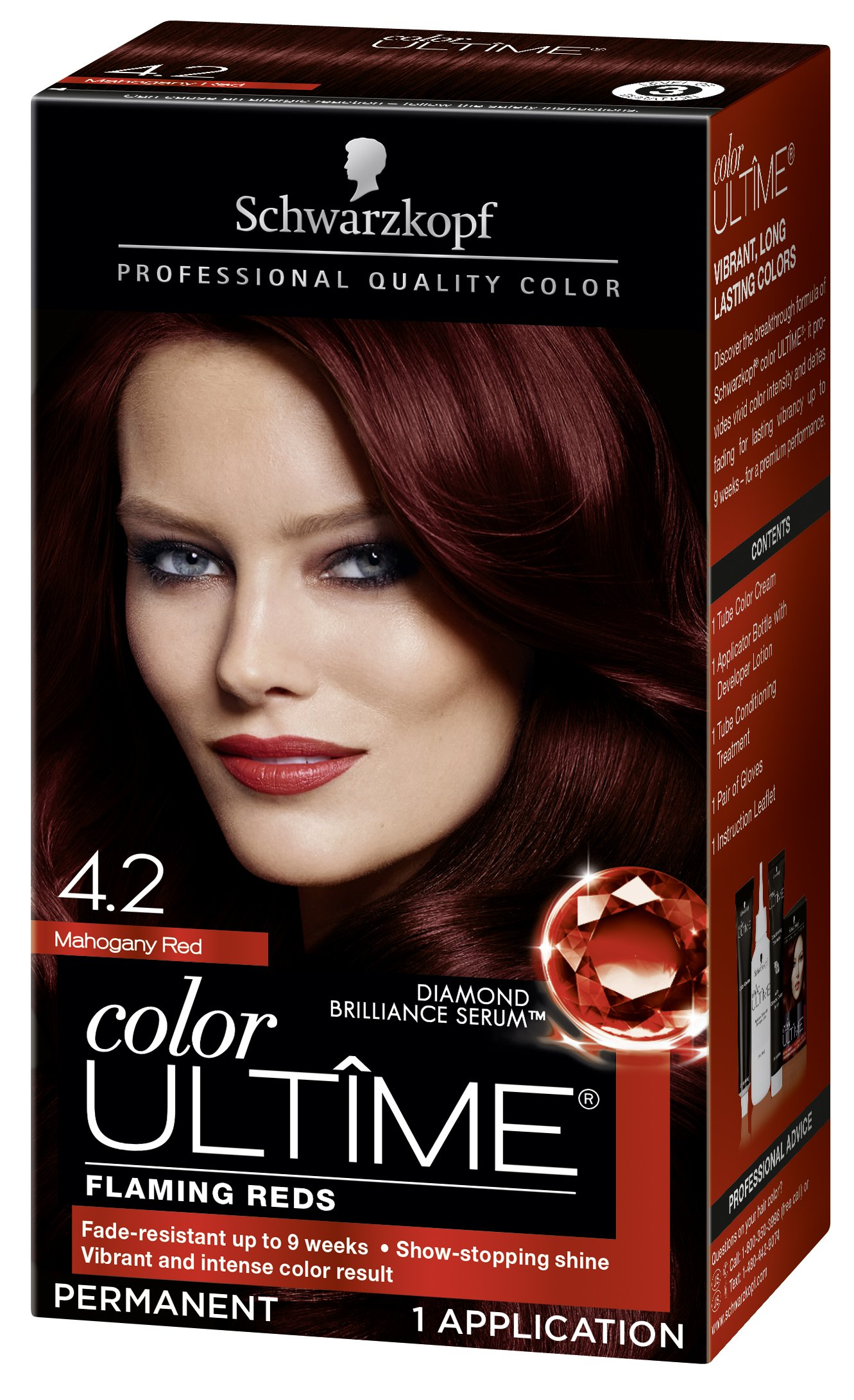 Amazon Schwarzkopf Ultime Hair Color Cream 42 Mahogany Red