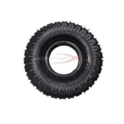 300x4 Dirt Tread Tire for Gas Scooter, Go Kart, Pocket Bike: Toys & Games