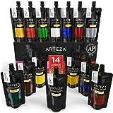 Arteza Acrylfarben – Hochwertige Acryl Künstlerfarbe für Leinwand - Malfarben Set mit 14 x 120 ml Farben in Tuben