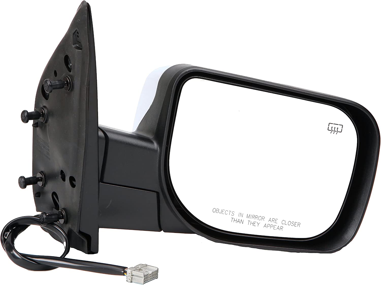 Amazon Com Dorman 955 1752 Passenger Side Power Door Mirror Folding With Memory For Select Infiniti Nissan Models Black And Chrome Automotive