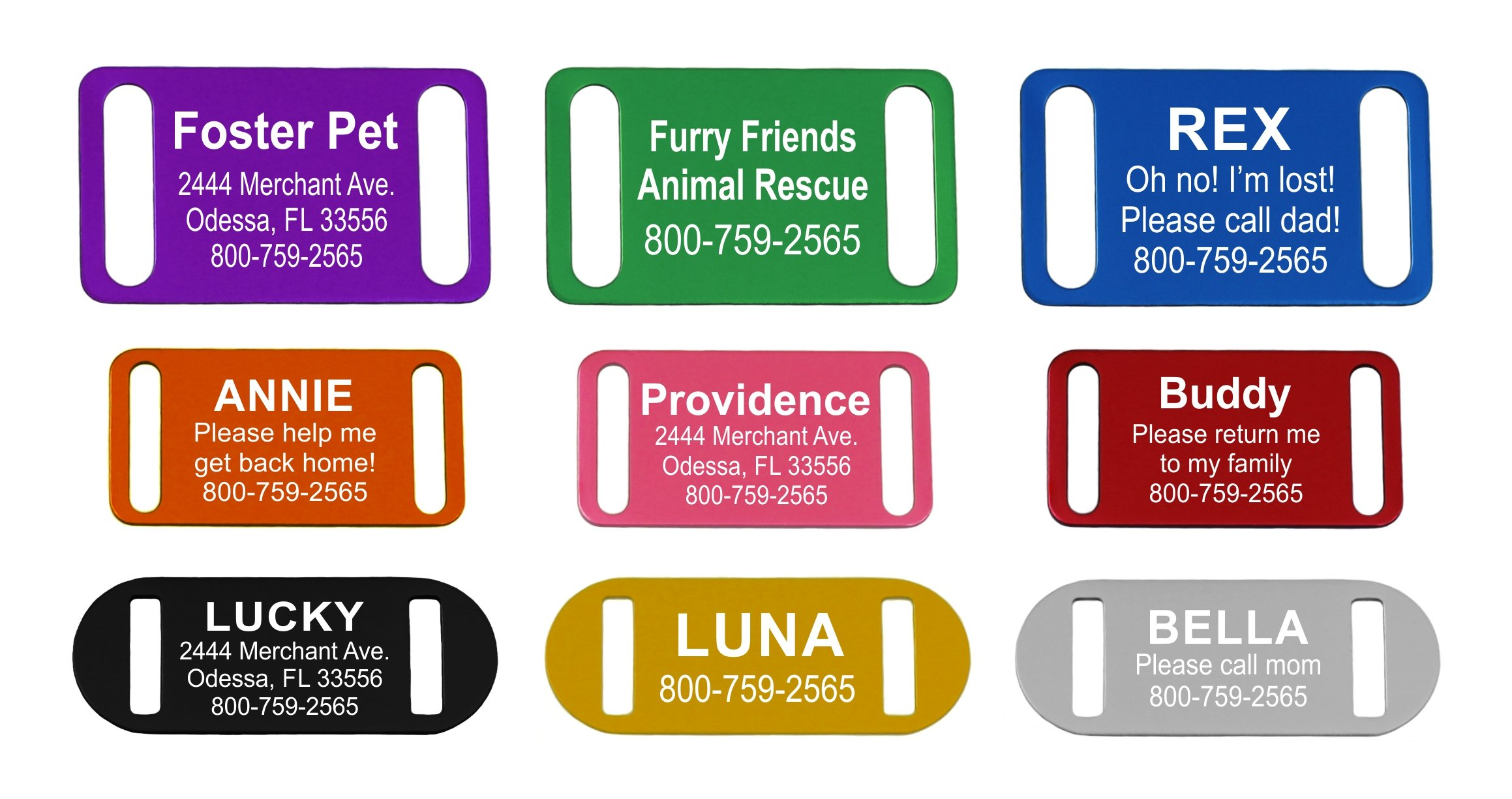 Providence Engraving Slide-On Pet ID Tag | Collar