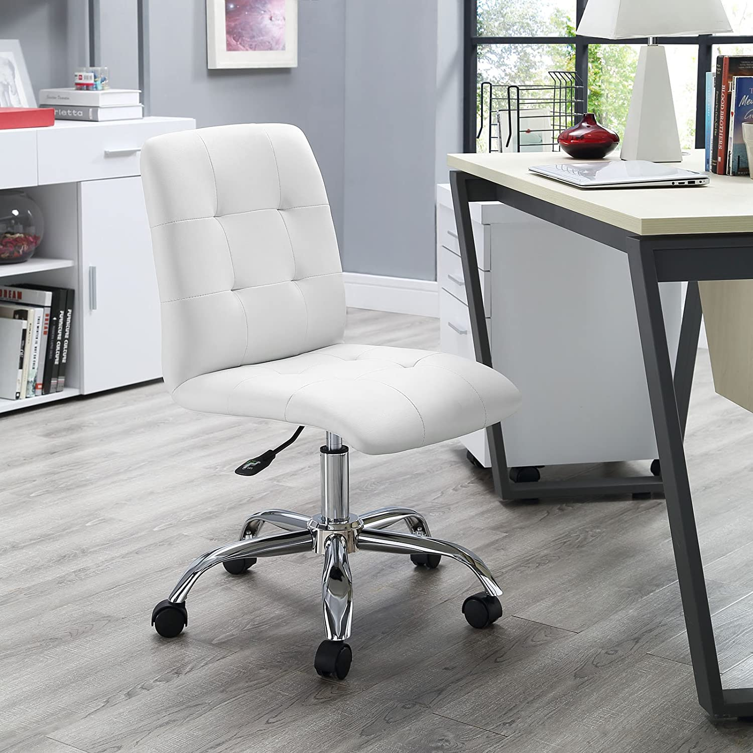 Amazon Modway Prim Mid Back fice Chair White Kitchen & Dining
