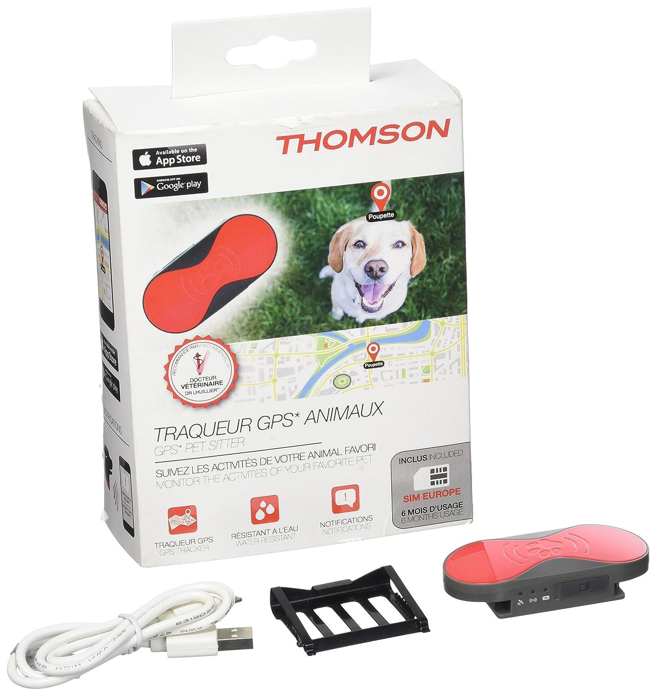 Thomson thpackpetsitter Tracker Animales GPS + Tarjeta SIM Europe ...