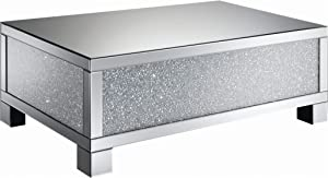 Coaster Home Furnishings Rectangular Clear Mirror Coffee Table, 48.25