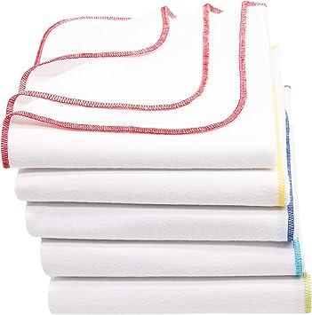 Zollner 5 paños de franela 100% algodón, 80x80 cm, muy suaves y ...