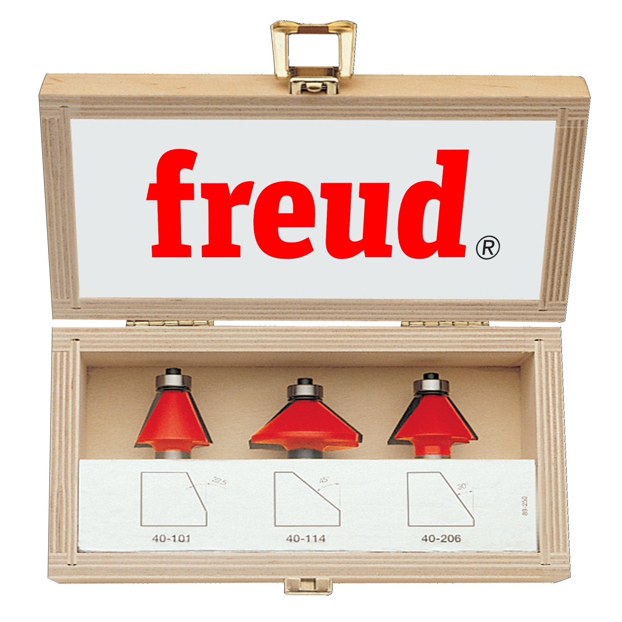 Freud 3 Piece Chamfer Bit Set