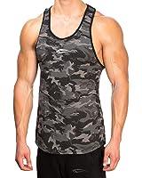 SMILODOX Camouflage Stringer Herren   Muskelshirt mit Aufdruck für Gym Fitness & Bodybuilding   Muscle Shirt - Unterhemd - Achselshirt - Trainingshirt Kurzarm