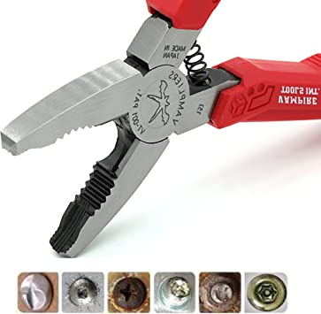 VAMPLIERS Worlds Best Pliers VT-001 Rusted//Damage//Specialty//Security Screws and Bolts Extraction Pliers VamPLIERS + Free Pouch Makes the best Gift for any Season Best Christmas Gift