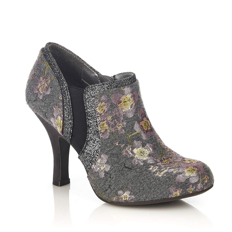 Ruby Shoo , Sandales Femme Sandales Compensées Femme Grey Grey Floral 2d7f502 - jessicalock.space