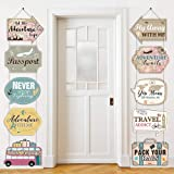 Let The Adventure Begin Sign Travel Cutouts Bon Voyage Banner Adventure Signs Party Supplies Door Sign Travel Themed Birthday Party Wall Decoration Signs 10 Counts