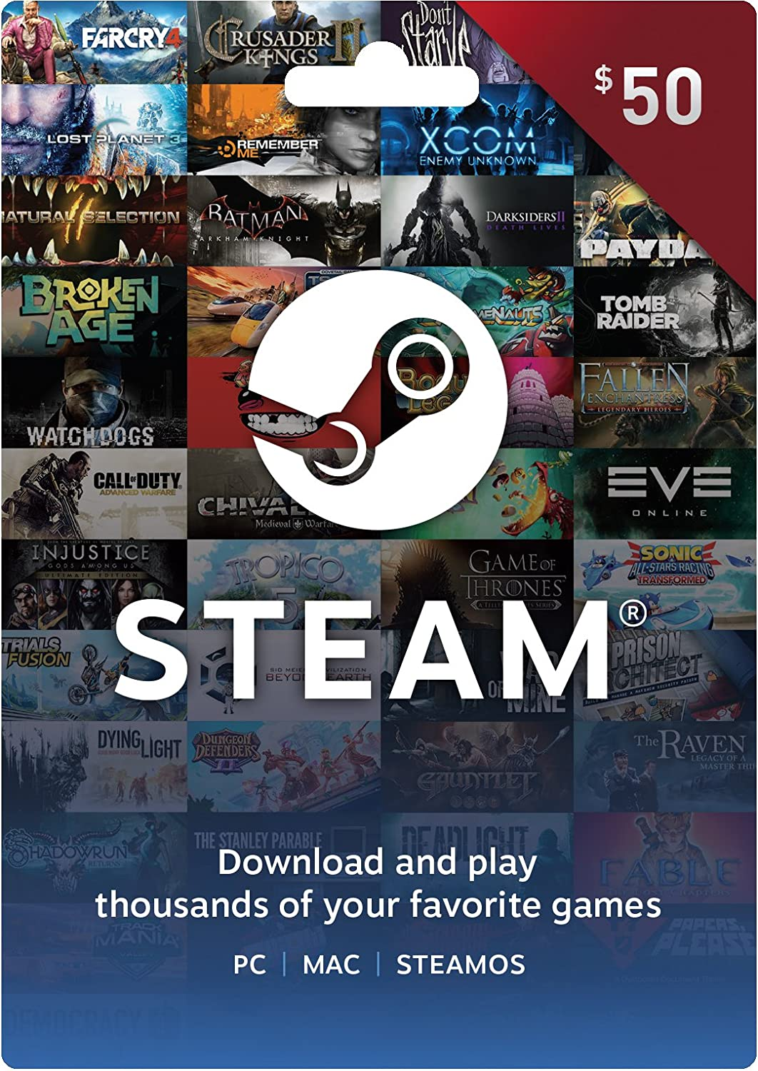 Amazon.com: Steam Gift Card - $20: pc: Video Games