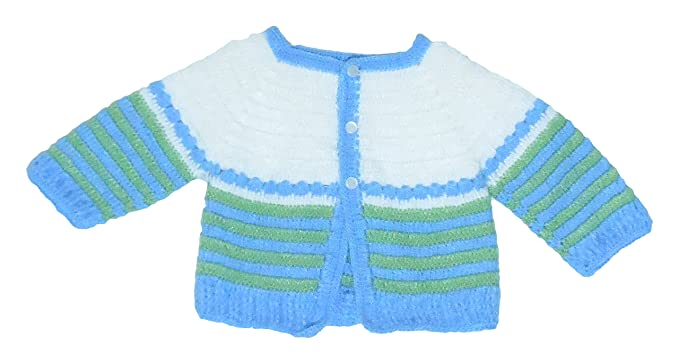Sr Handicrafts Baby Boys Wool Sweater Sh015 0 6 Months White And