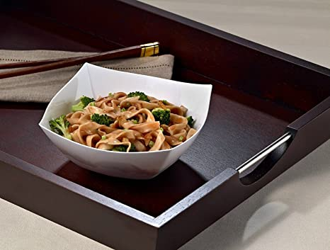 Dessert Bowls Candy Bowl Sugar Bowl Perfec Salad Bowl Zappy 8 Ounce Square Black Plastic Serving Bowls Heavyweight Disposable Condiment Bowl Rice Bowl 8 Black Bowls or Fruit Bowl for cut fruit