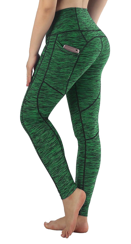 Blackish Green(Ankle) Sugar Pocket Women's Workout Leggings Running Tights Yoga Pants Red