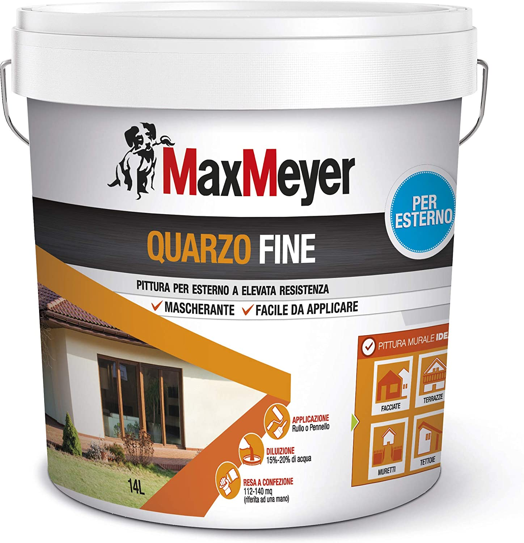 Maxmeyer Pittura Per Esterni Quarzo Fine Bianco 14 L 8 10 Mq Litri Amazon It Fai Da Te