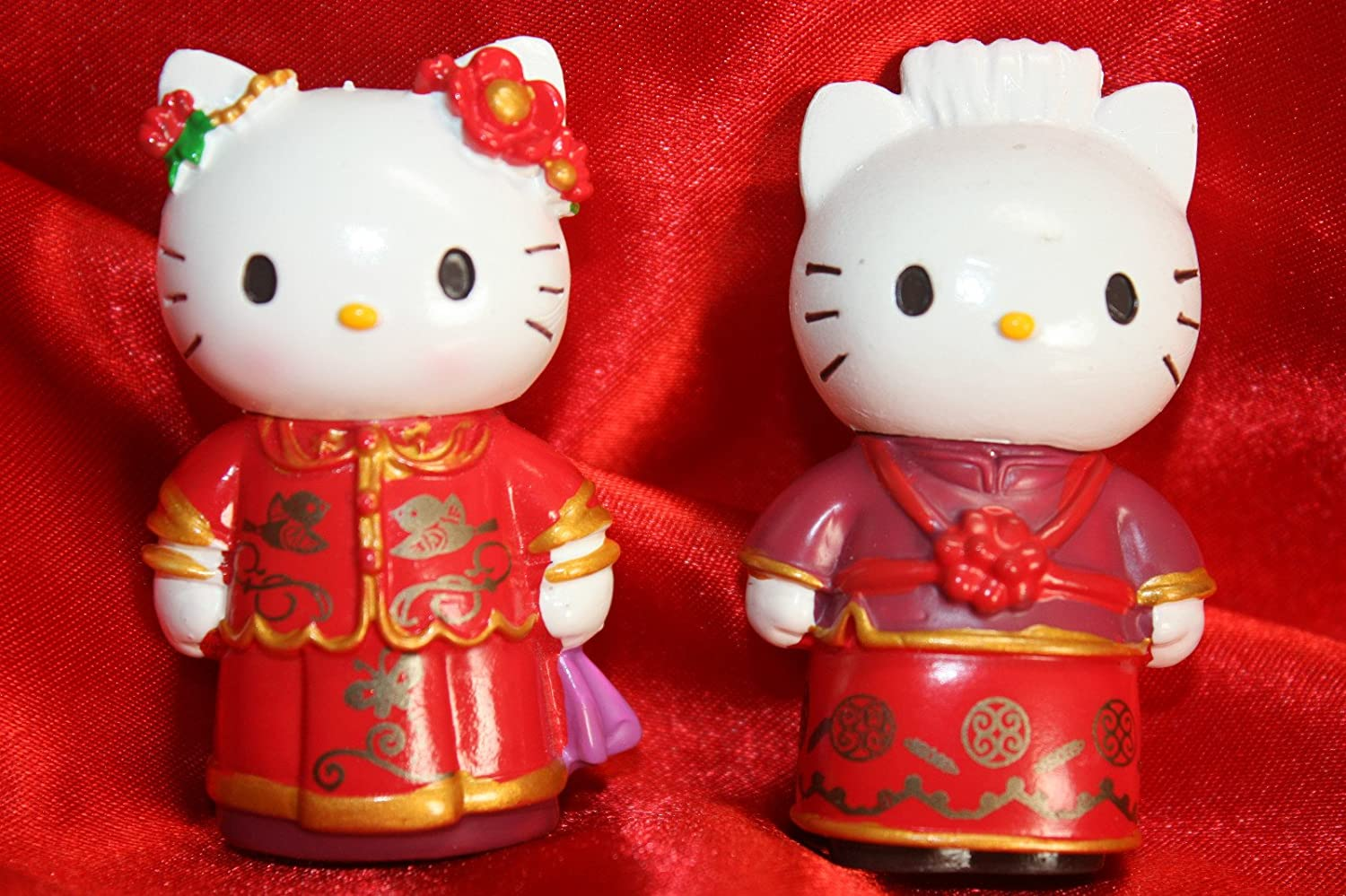 Amazon Hello Kitty And Daniel Wedding Cake Topper Set Kitchen Dining