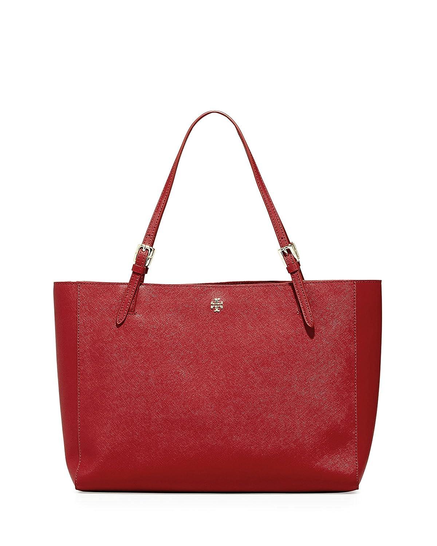 d8a29bcf8e83 Amazon.com  Tory Burch Emerson Large Buckle Tote Saffiano Leather Handbag  49125 (Kir Royale)  Shoes
