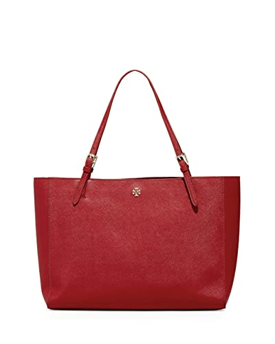 6ba1c4959051 Amazon.com  Tory Burch Emerson Large Buckle Tote Saffiano Leather Handbag  49125 (Kir Royale)  Shoes