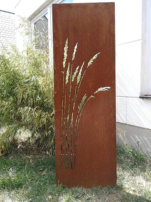 Zen Man Jardín para Valla de Metal Oxidado Jardín Valla Jardín Decoración edelrost para Ventana Pared 150 * 50 cm 101549: Amazon.es: Jardín