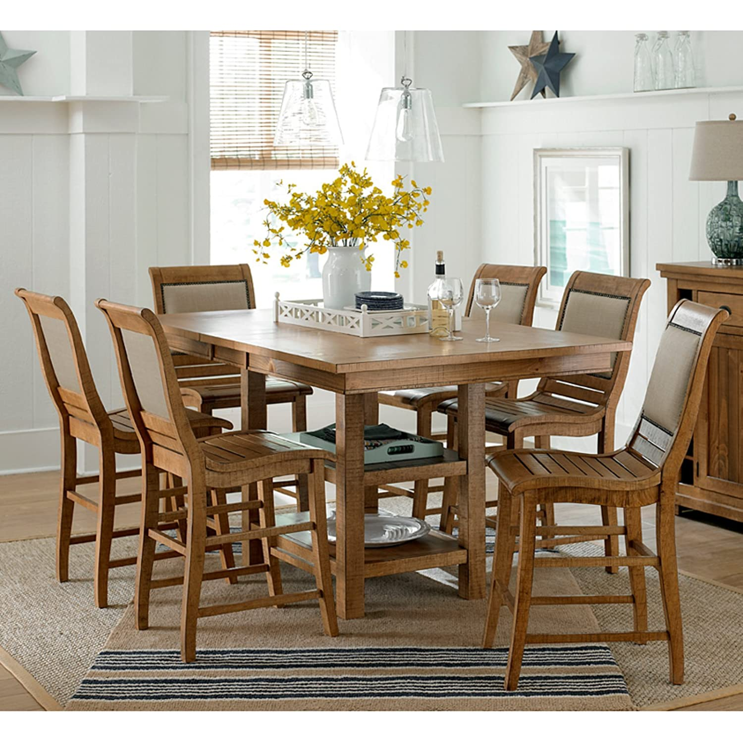 Willow upholstered dining chair narrow willow solid oak dining chair - Amazon Com Progressive Furniture Willow Dining Counter Upholstered Chairs Chairs