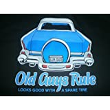 """OLD GUYS RULE """" LOOKS GOOD WITH A SPARE TIRE """" 57 CHEVY BEACH POCKET-T SIZE 3X"""